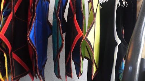 Coloful Fabrics on Display