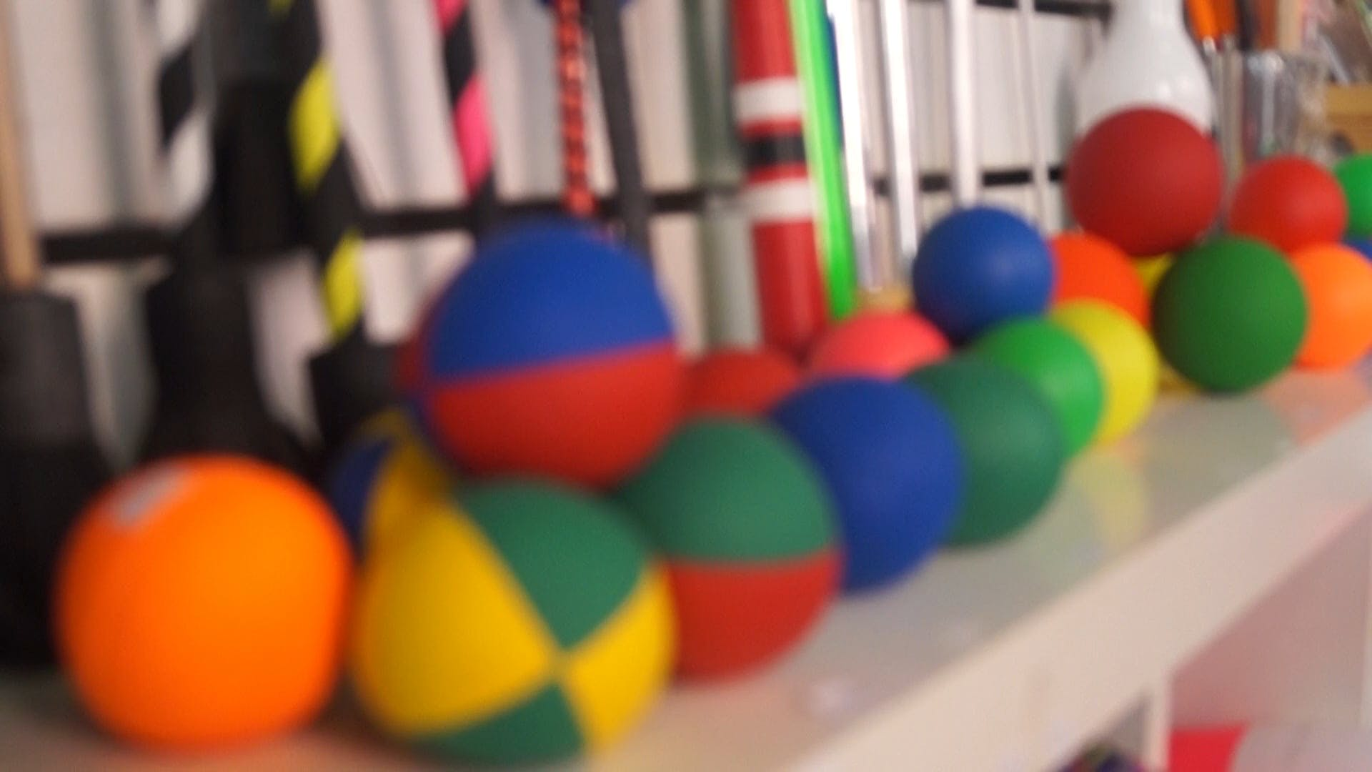 Multi Colored Balls On Display