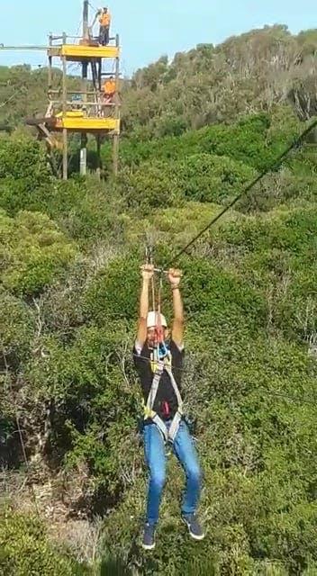 Man On A Zipline