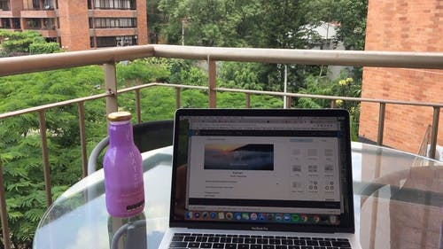 Working At The Balcony