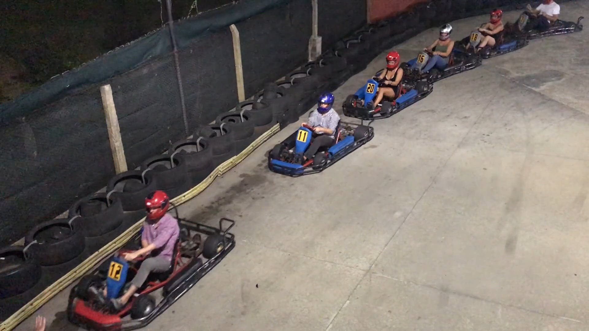 People On Go Karts