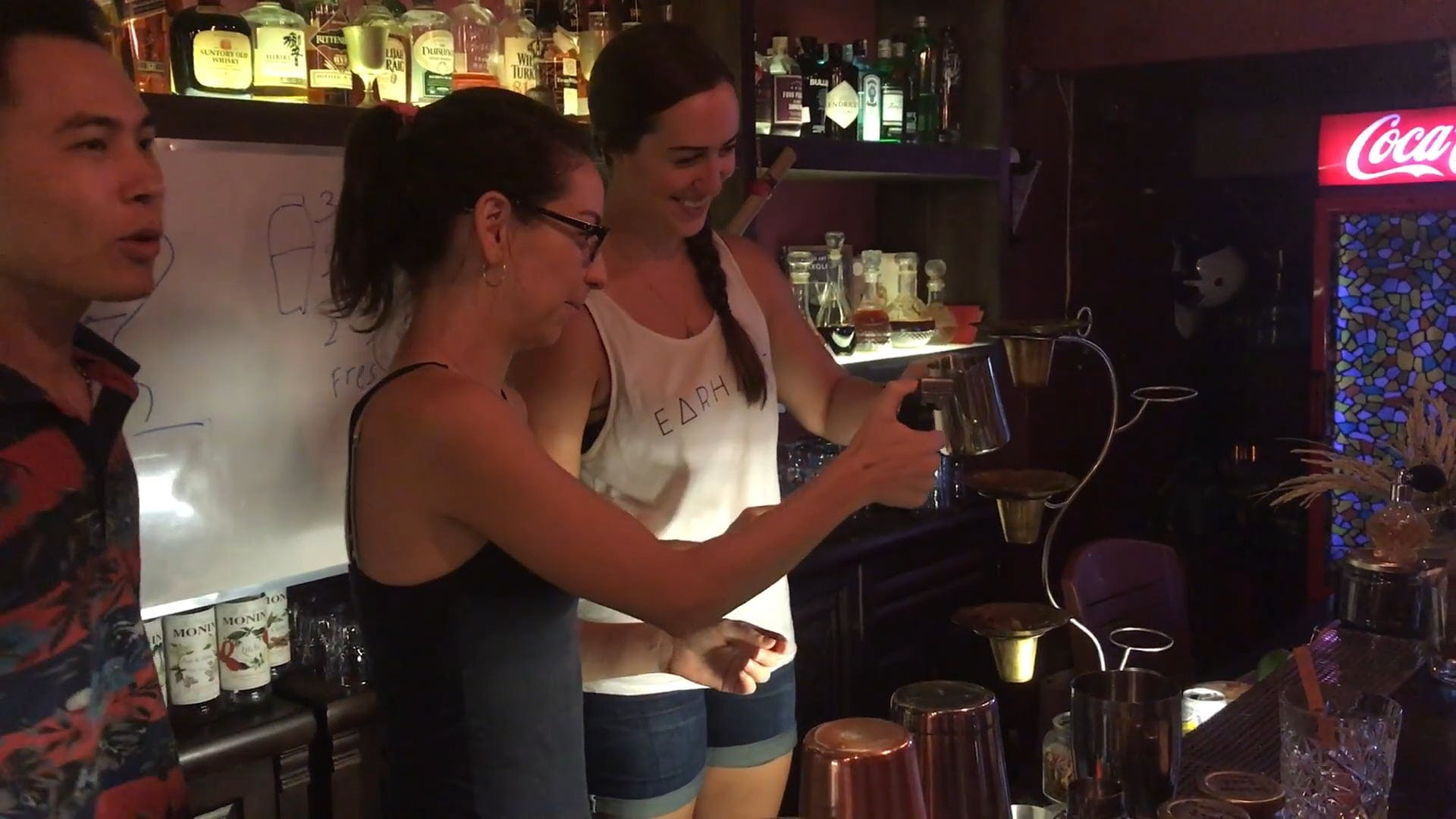 Women Pouring Drinks