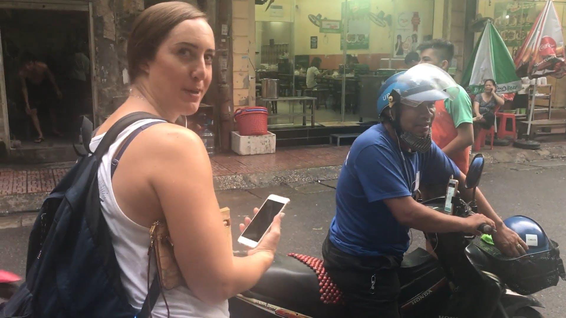 Uber Motorcycle Ride