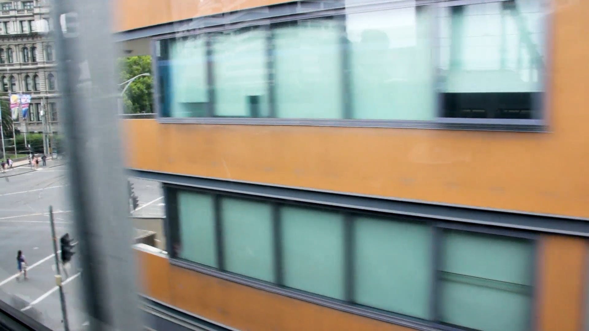 Video Of City From A Train
