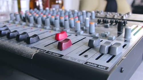 Music Studio And Sound Mixer
