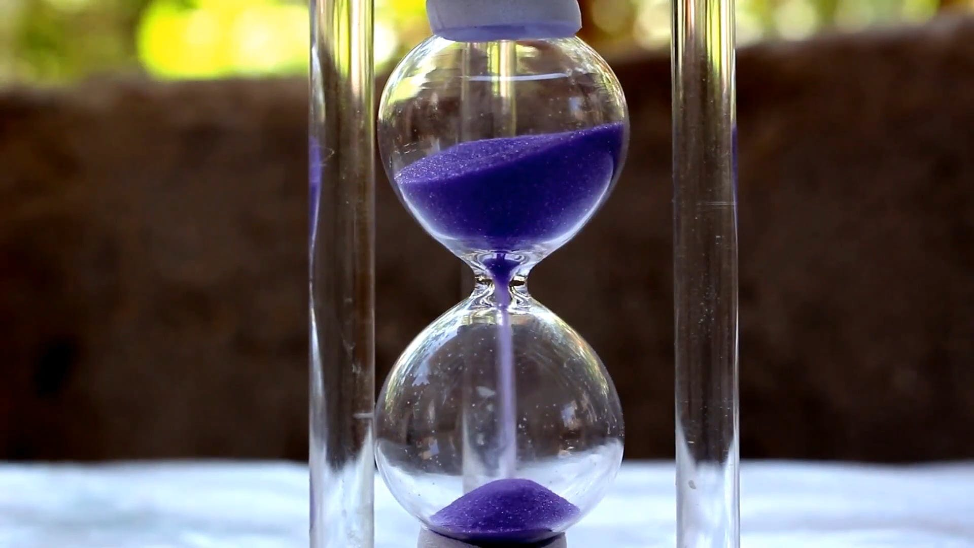 Close-Up View Of A Sand Timer