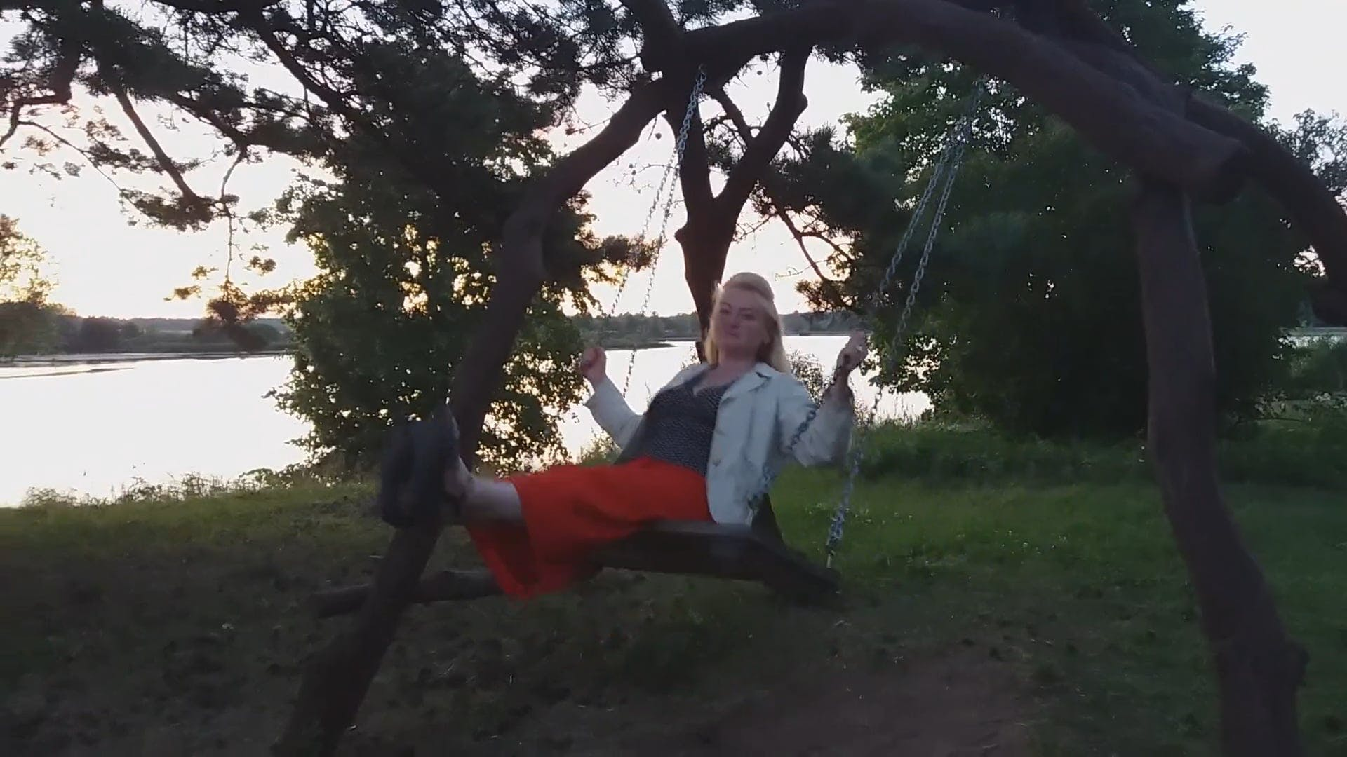 Woman On A Swing