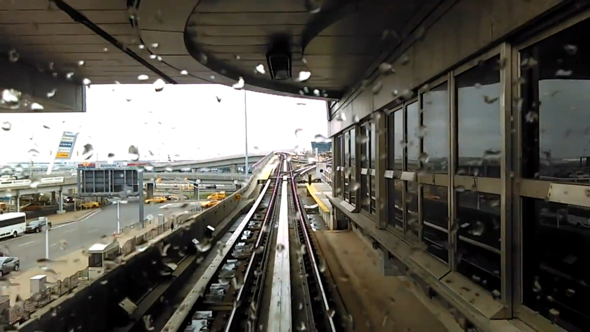 Time Lapse Video Of Airport Train