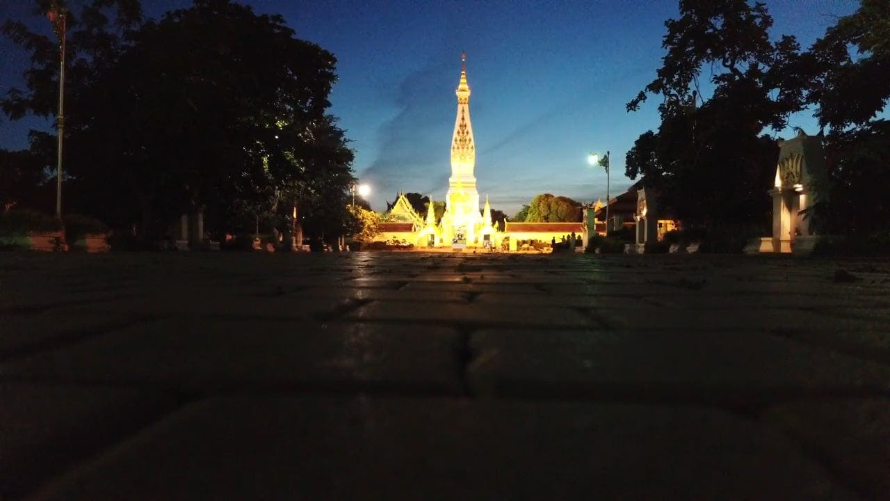 Night View Of Thailand's Famous Landmark