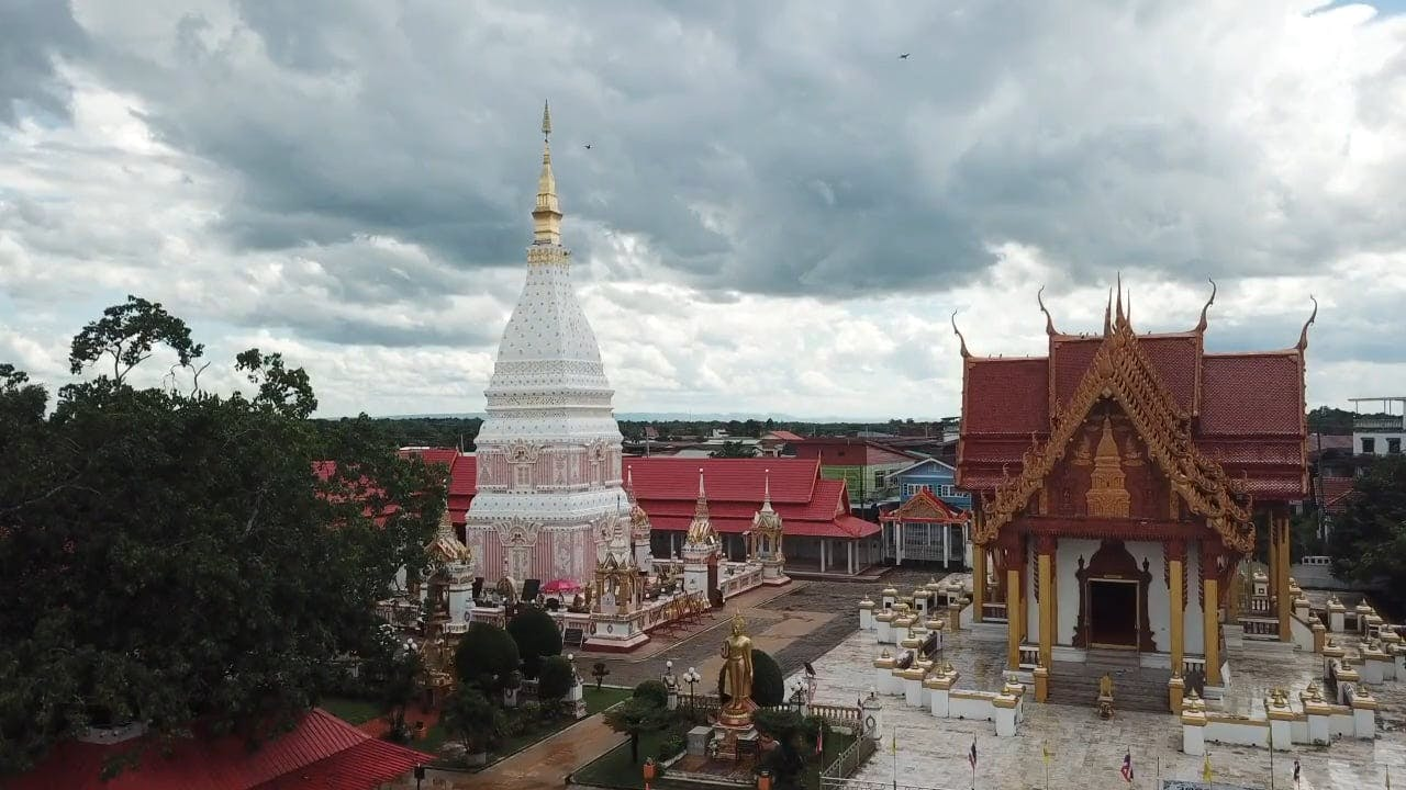 Aerial View Of Temples In Thailand