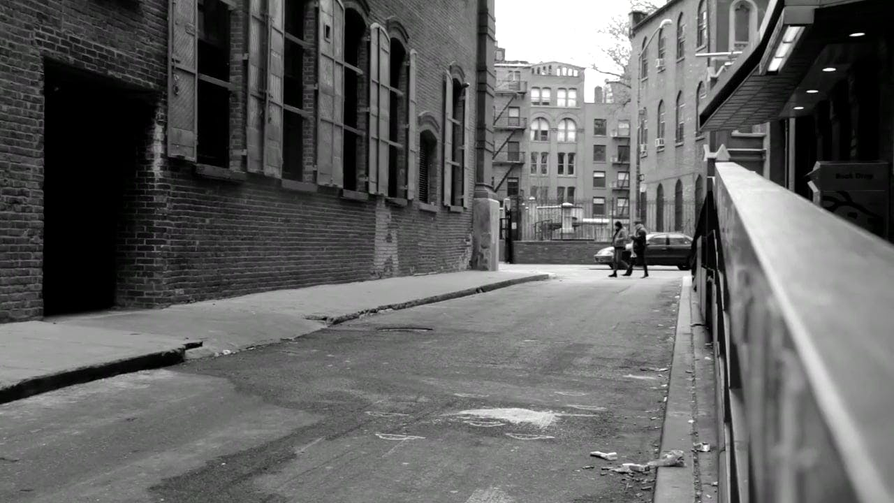 Black And White Video Of Narrow Road