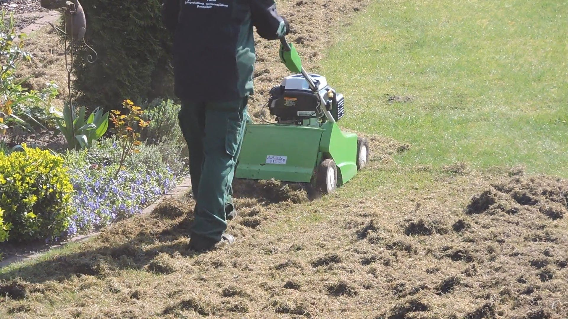 Man Working With A Lawn Mower