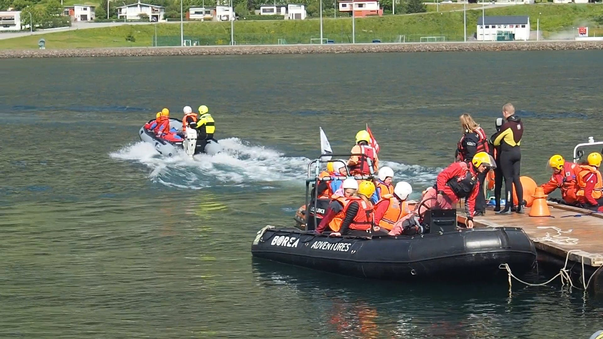 Motorboats In Action