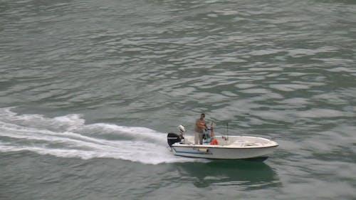 Person On Speedboat