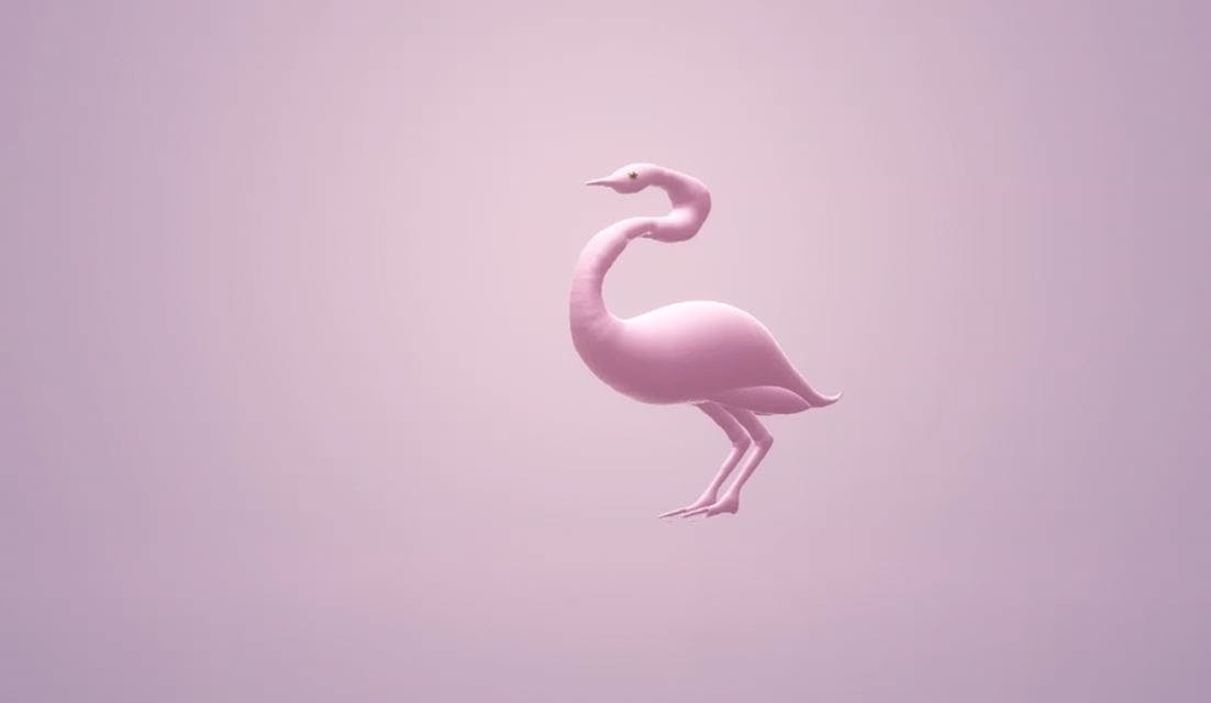 Animation Of A Pink Flamingo