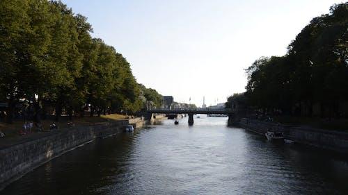 River Beside A Park