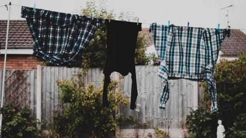 Clothes Hanged To Dry