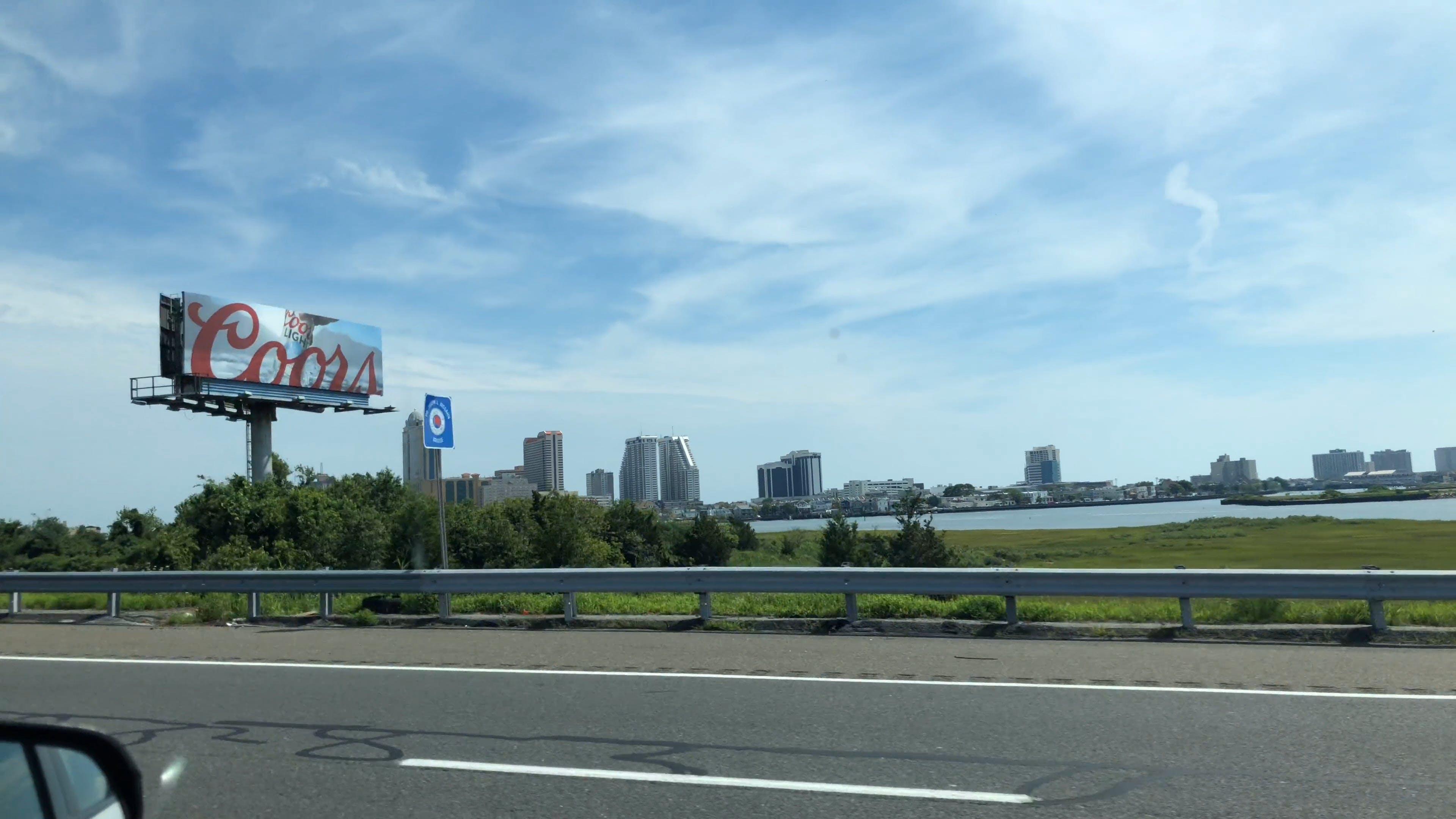 View Of City From Moving Vehicle