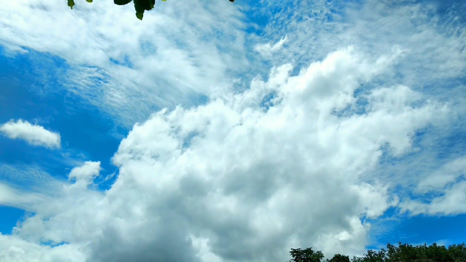 Time Lapse View Of Clouds