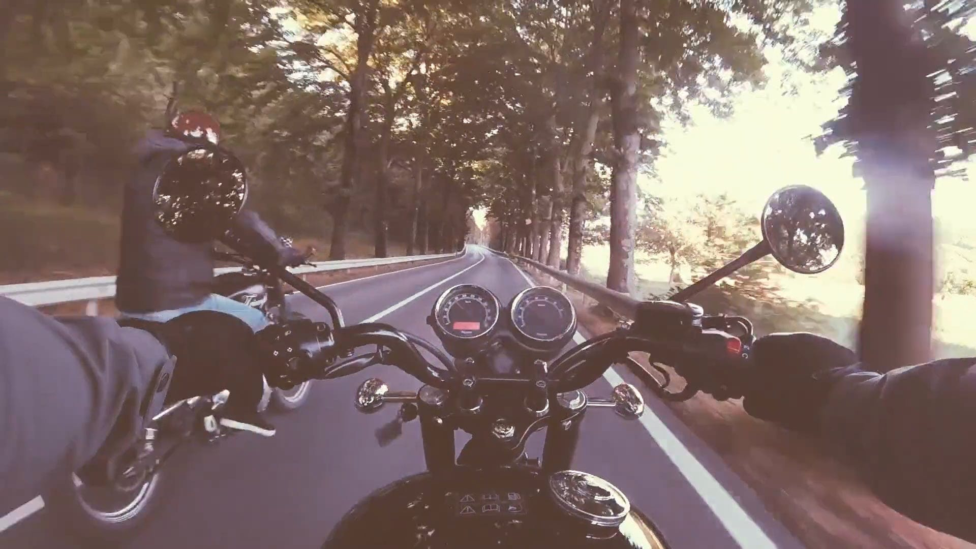 Video Of Motor Bikers On The Road