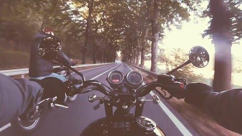 Video Of Motor Bikers On The Road