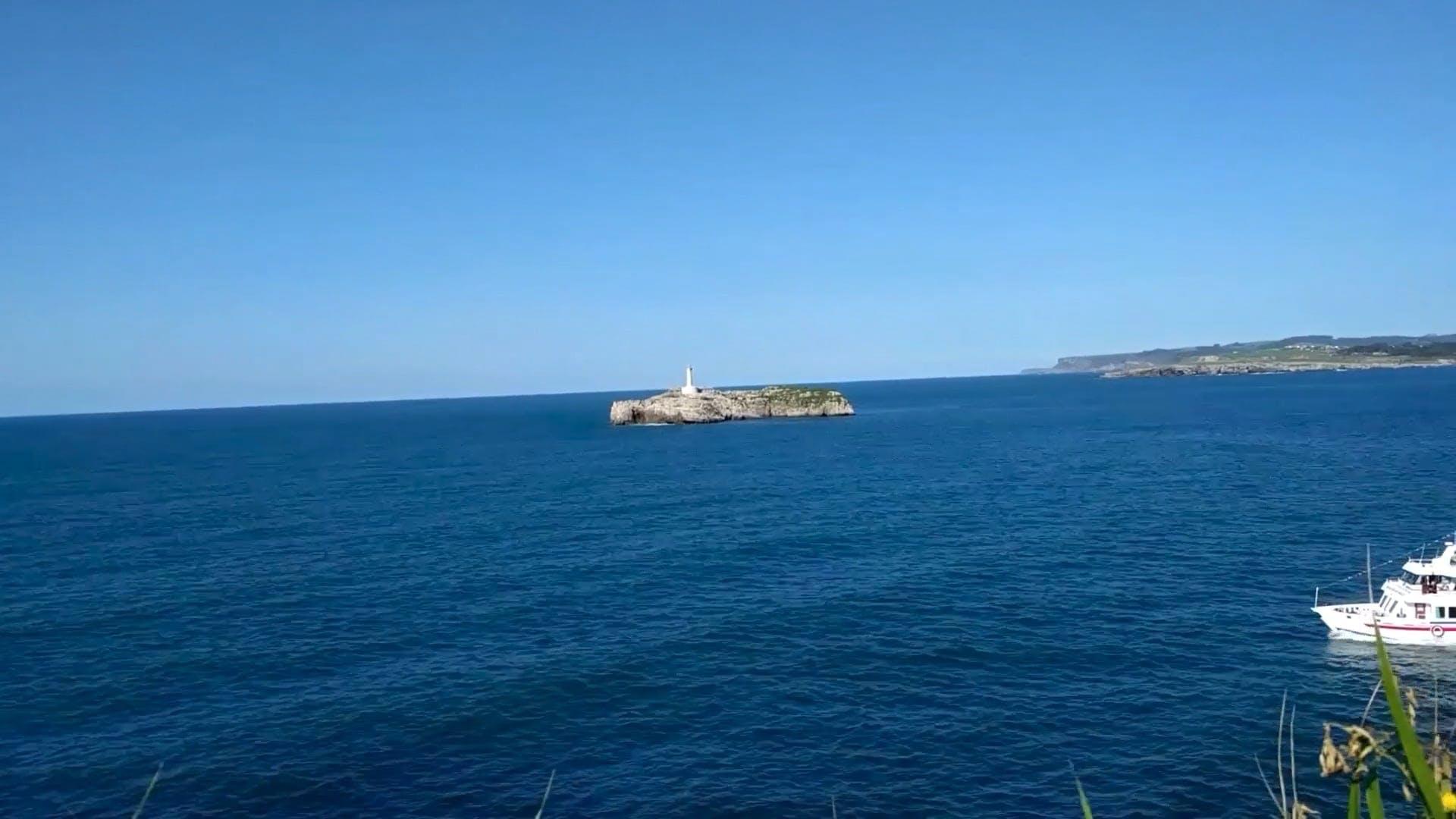 Ship Cruising Across The Sea