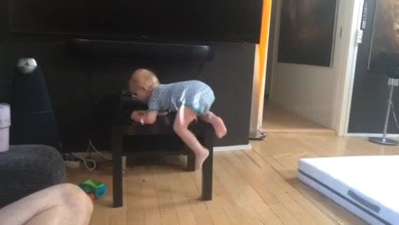 Baby On Top Of A Table