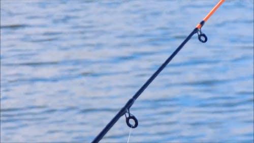 川での釣り