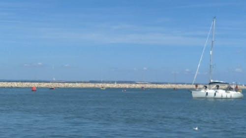 Boat Sailing Across The Sea