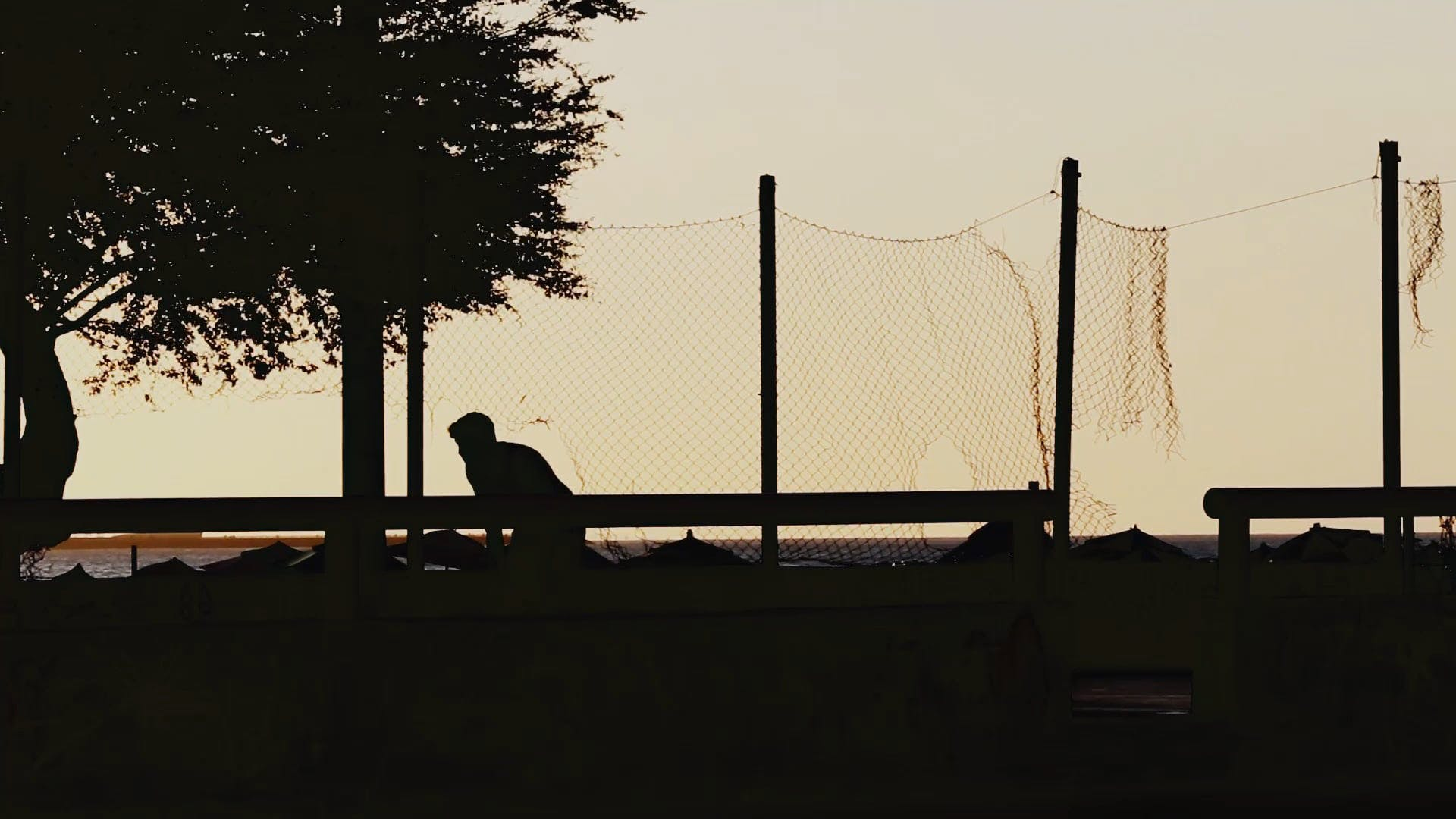 Silhouette Of People Playing Soccer