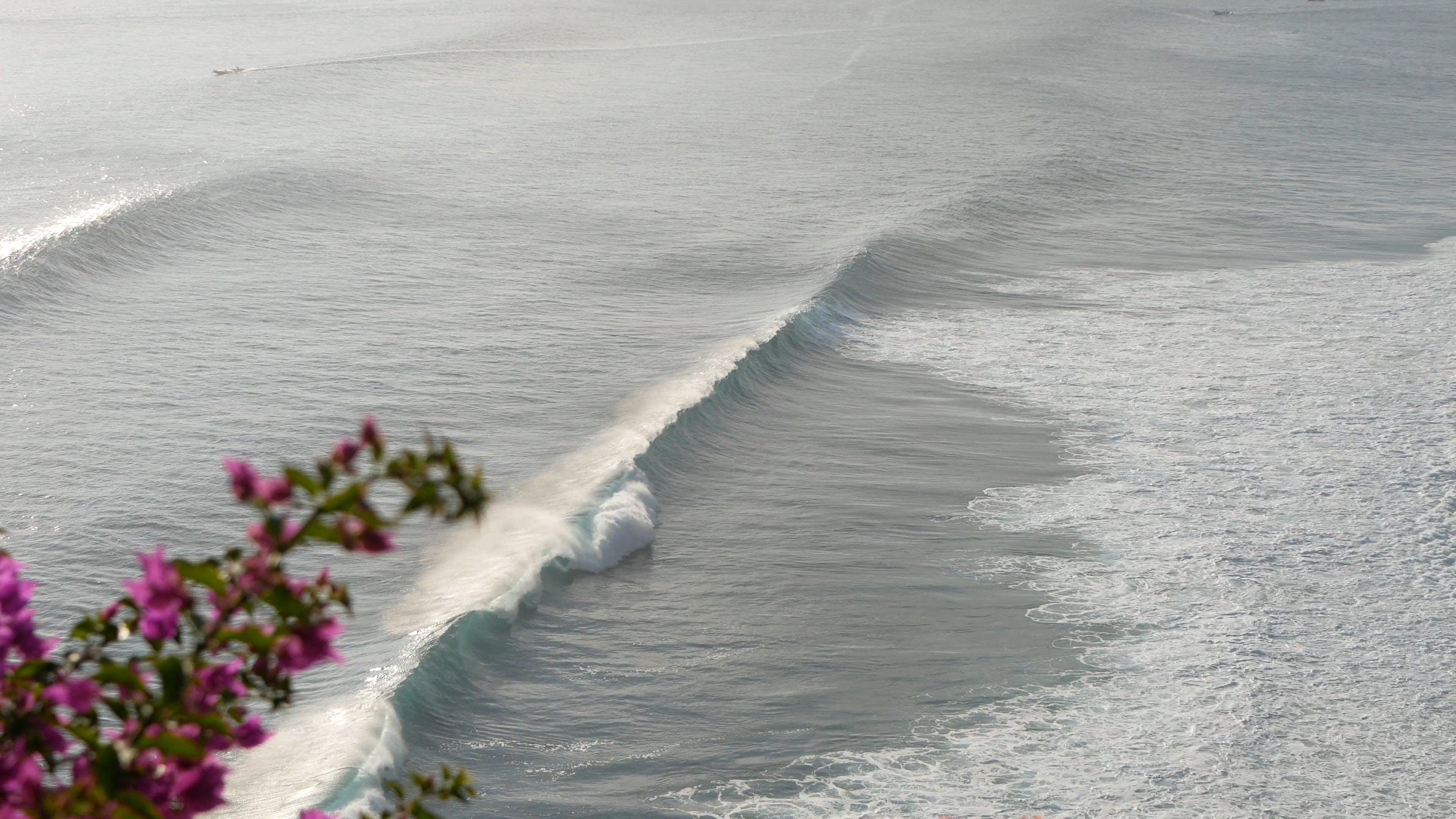 Aerial View of Big Waves