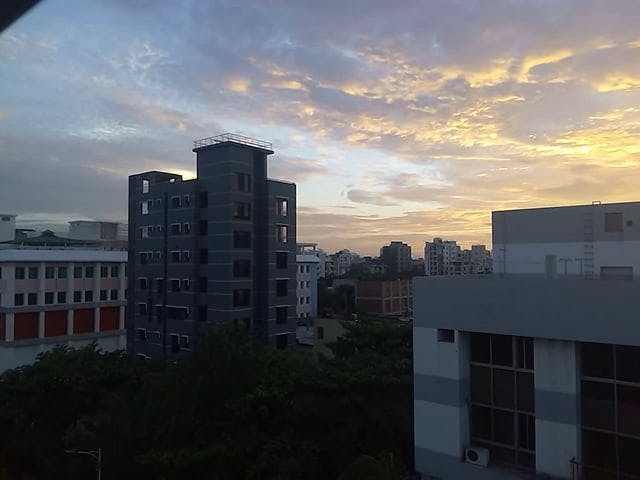 Sunset View From A Building