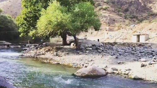 River Beside A Mountain