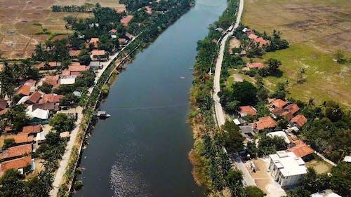 A River Between Two Farmlands