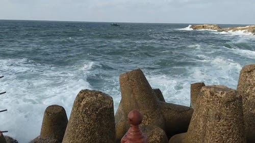 View Of The Sea And Breaking Waves