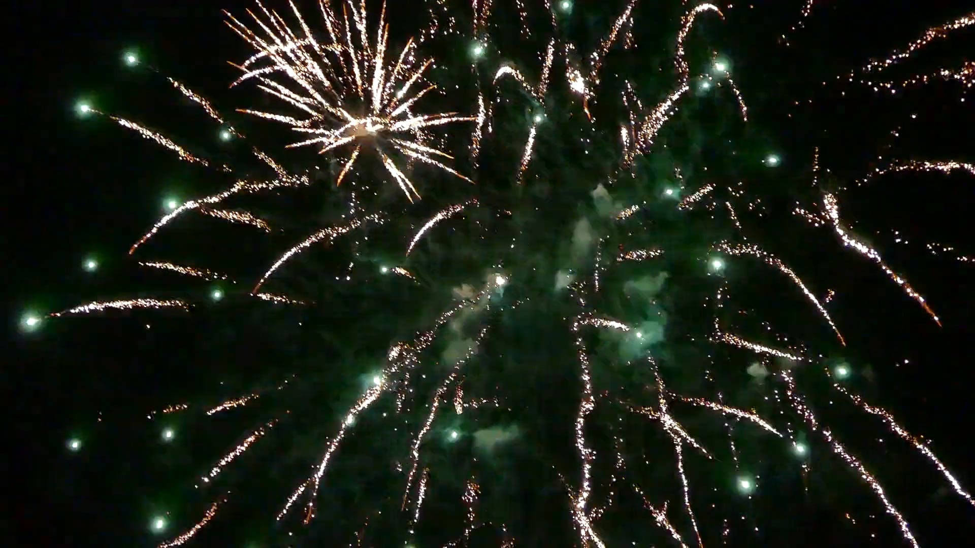 Video of Fireworks During Evening