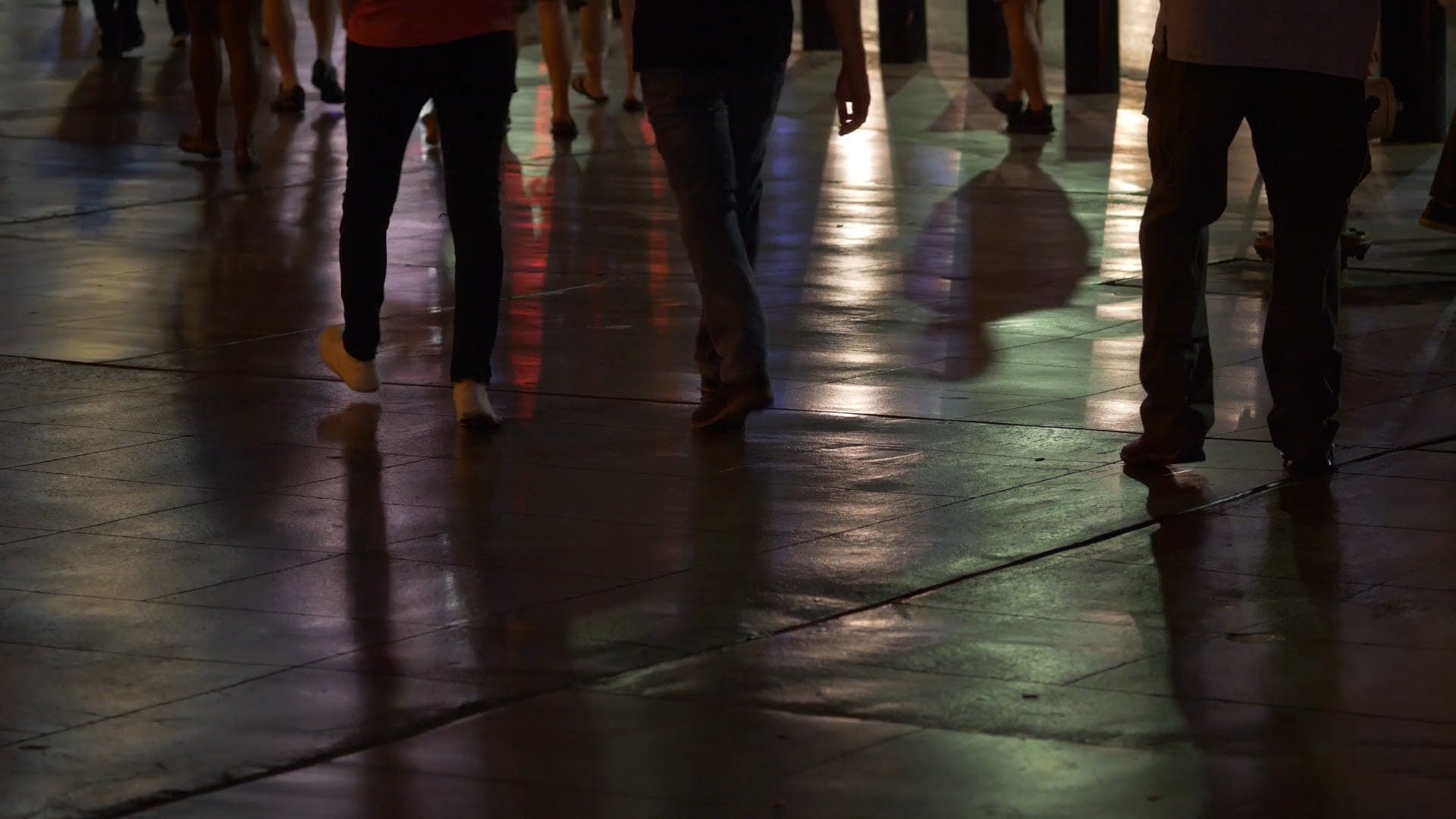 Groups of People Walking At Night