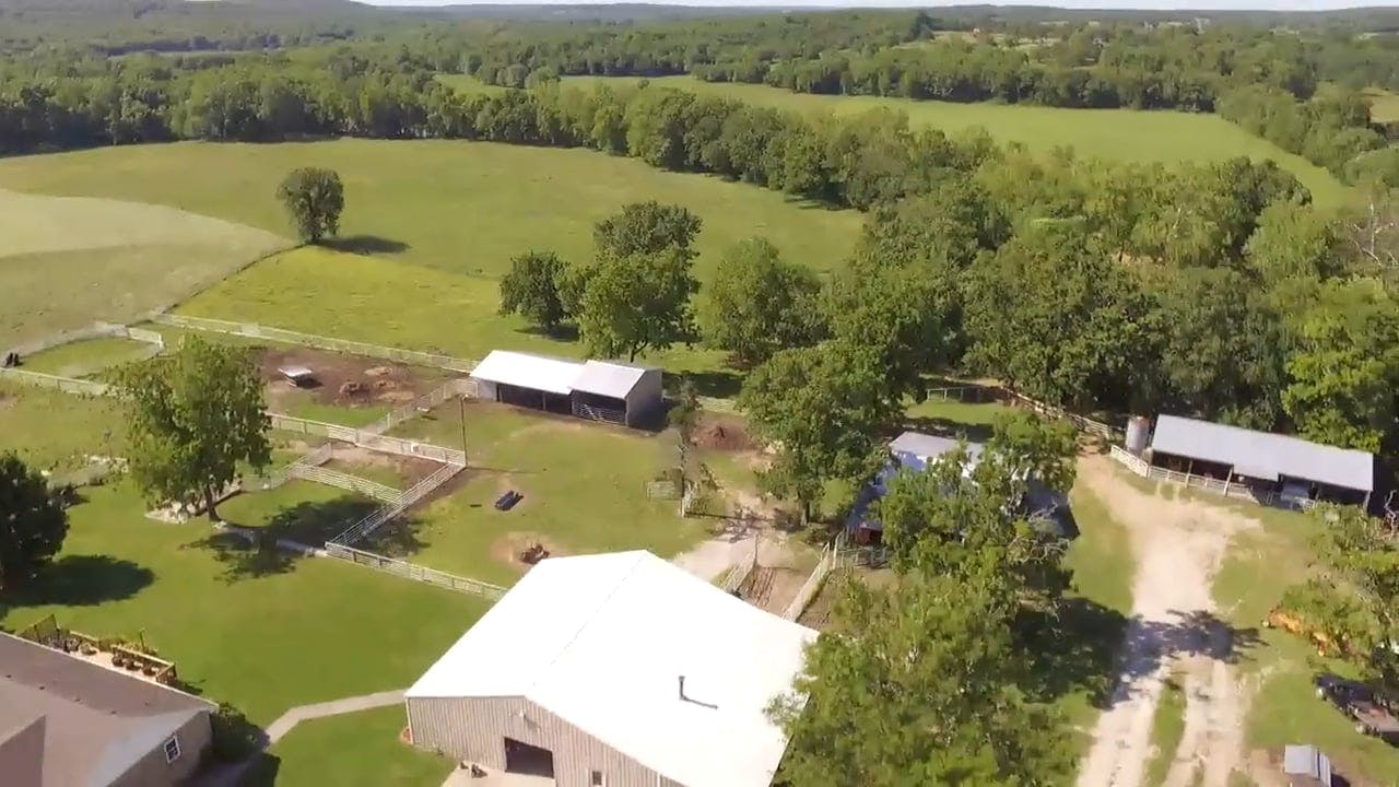 Drone View Of A Farmland