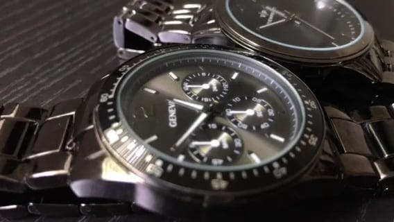 Close View Of Modern Wristwatches