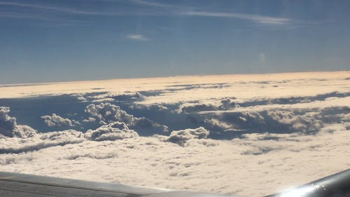 View Of Clouds From An Aircraft