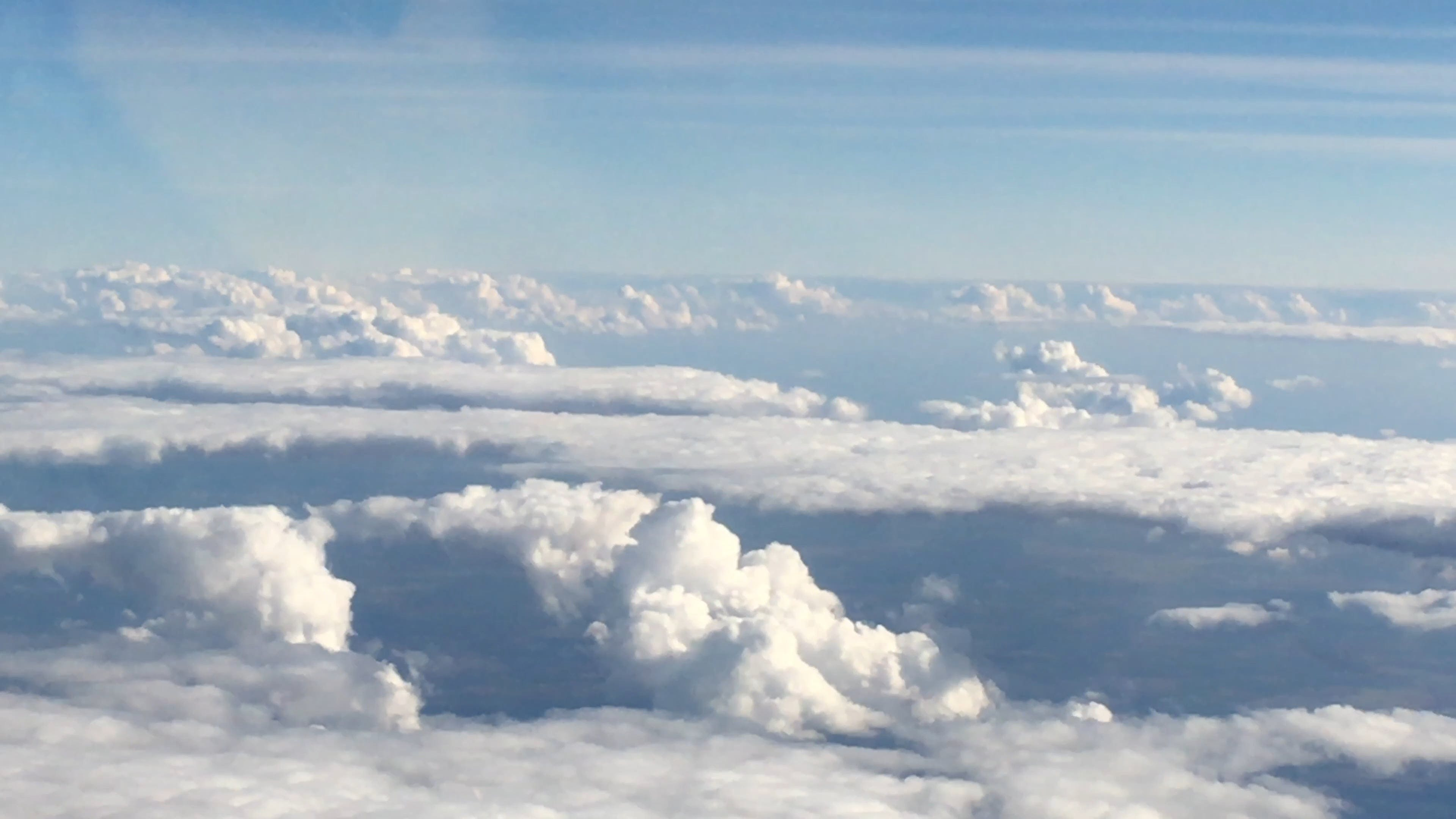 View Of The Clouds From Above