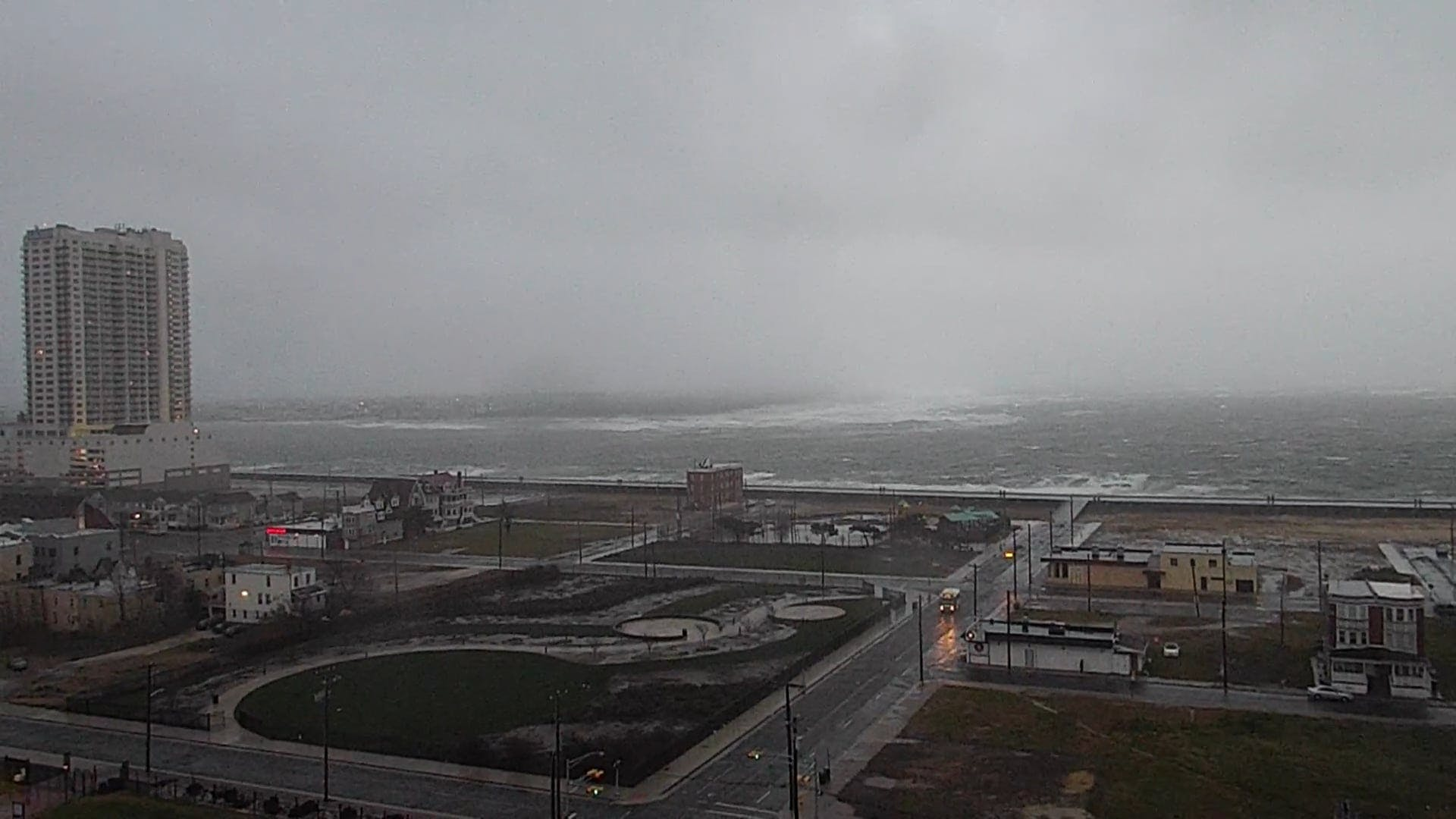 Big Waves Crashing Due To Storm