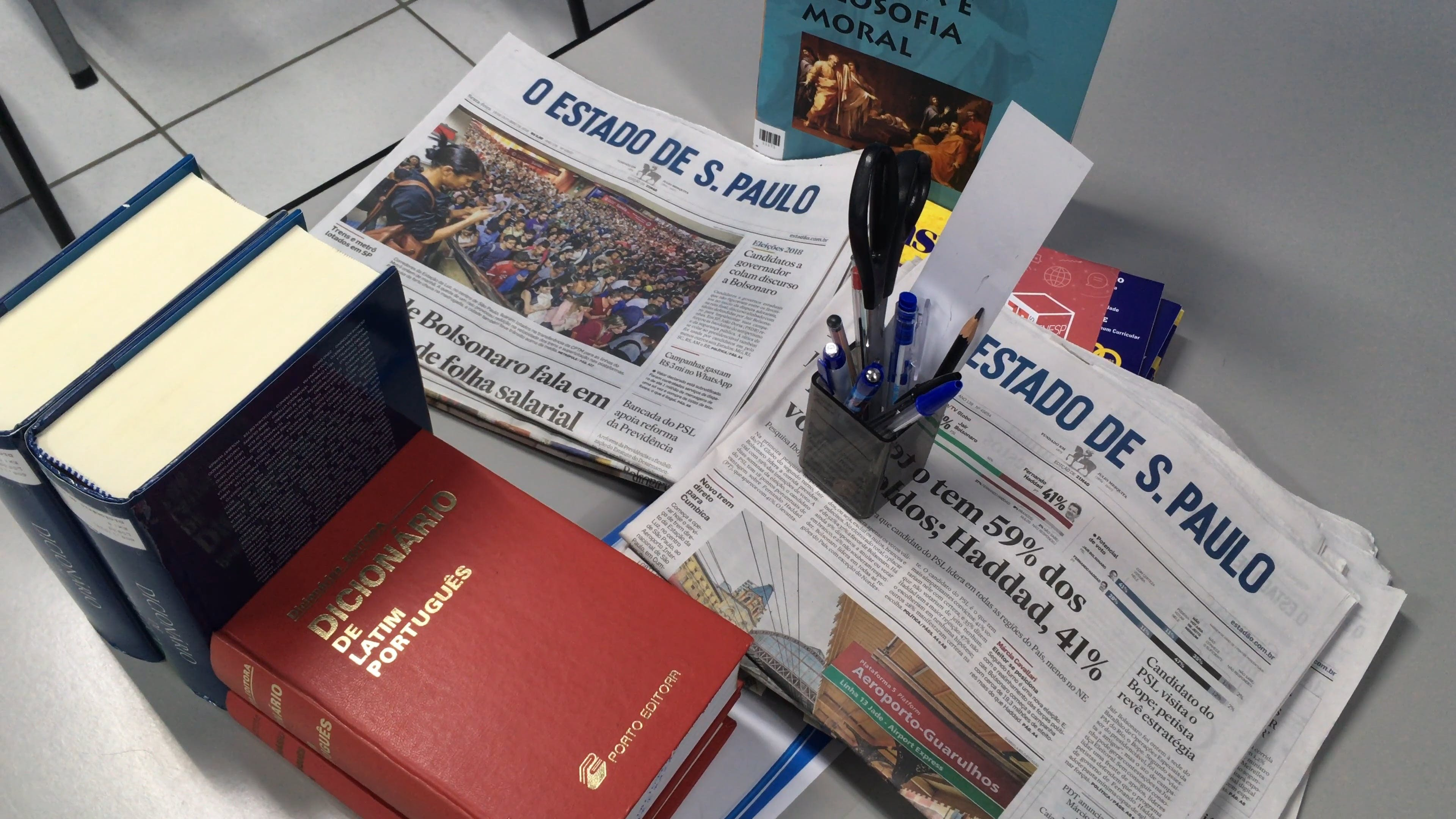 Educational Materials On A Table
