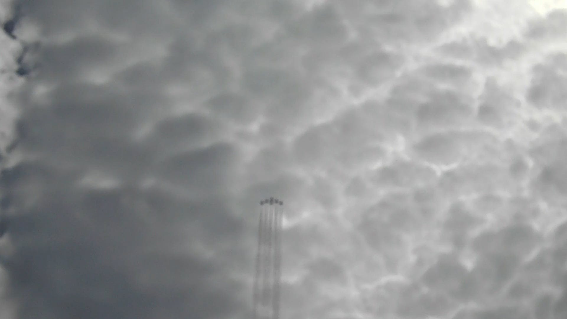 Air Show Of Jet Fighters On A Cloudy Sky