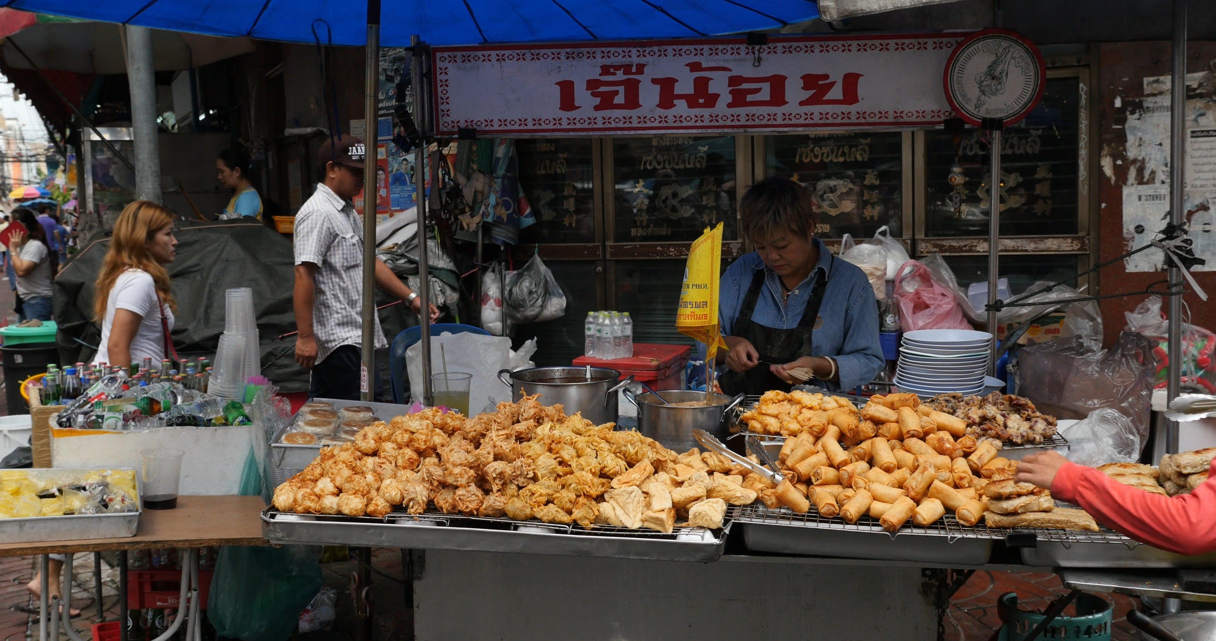 Street Food On A Stall