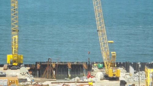 Construction Site Near The Sea