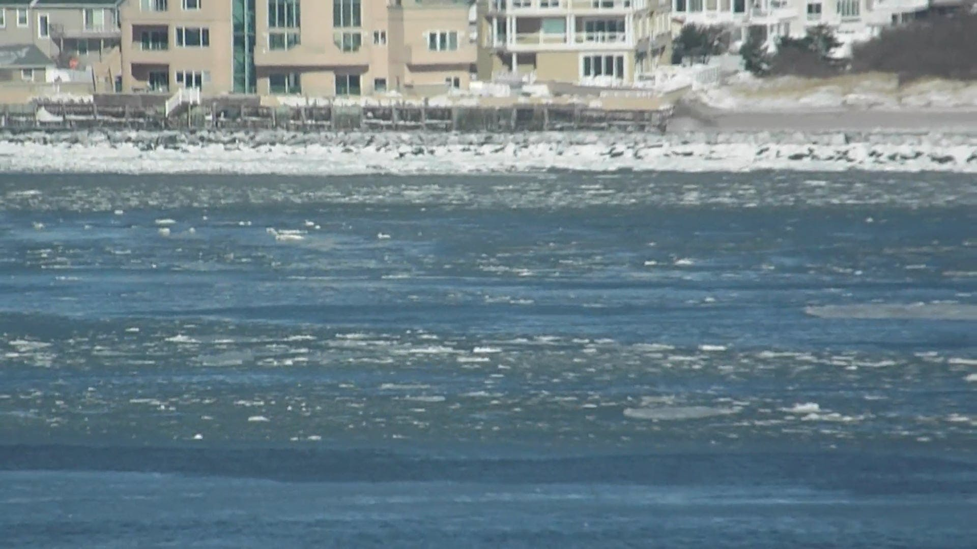 Ice Melting In The River