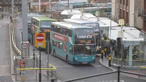 Buses Waiting At A Station