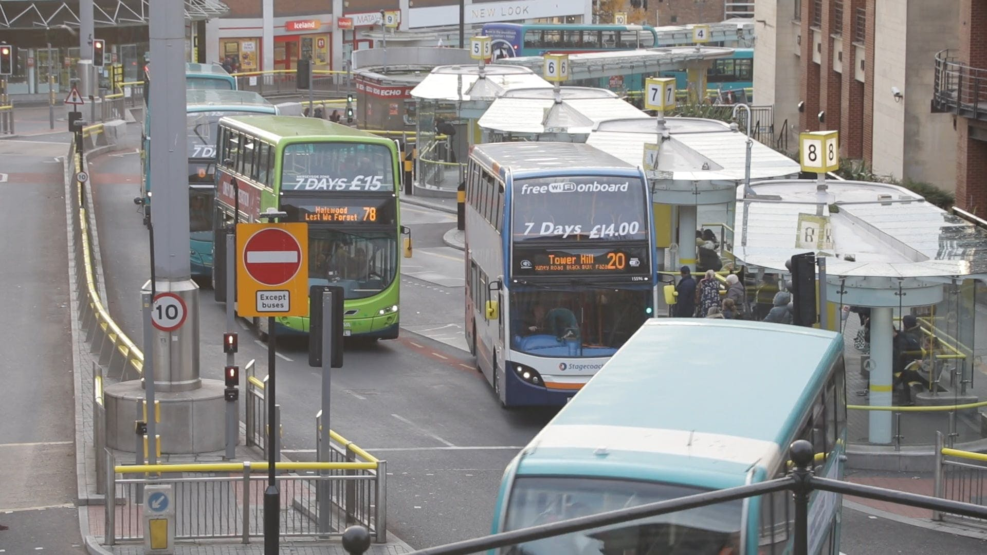 Video Of Buses On Road
