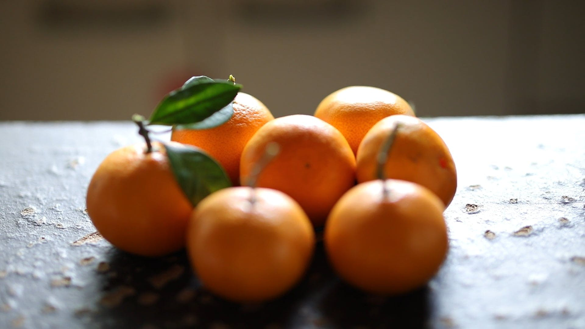 Sweet Oranges On The Table